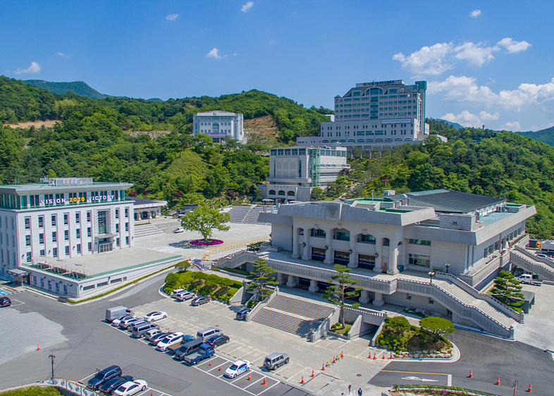 Scenery in Summer (a panoramic view over the training center), 2020.7.05